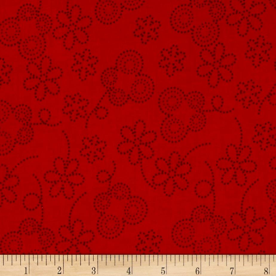 Bugsy Dot Floral Red