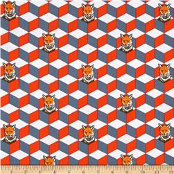 Kokka Echino Huedrawer Sateen Metallic Fox Box Orange