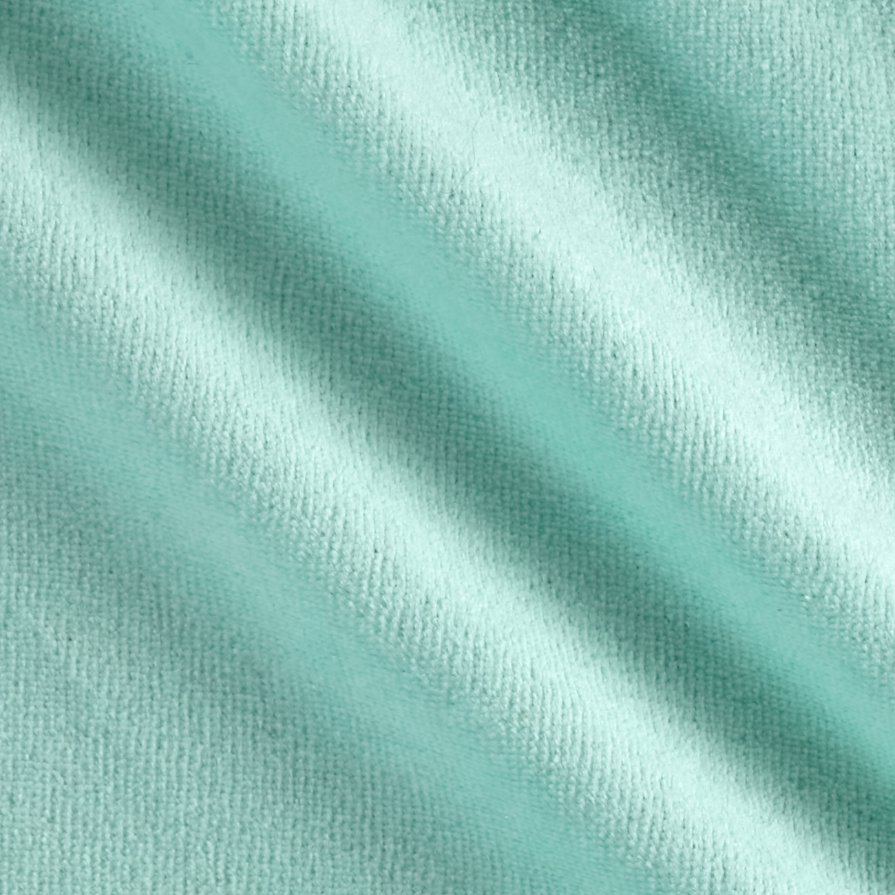 Solid Velour Mint Fabric by Mike Cannety in USA