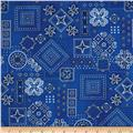 American Beauty Bandana Allover Blue