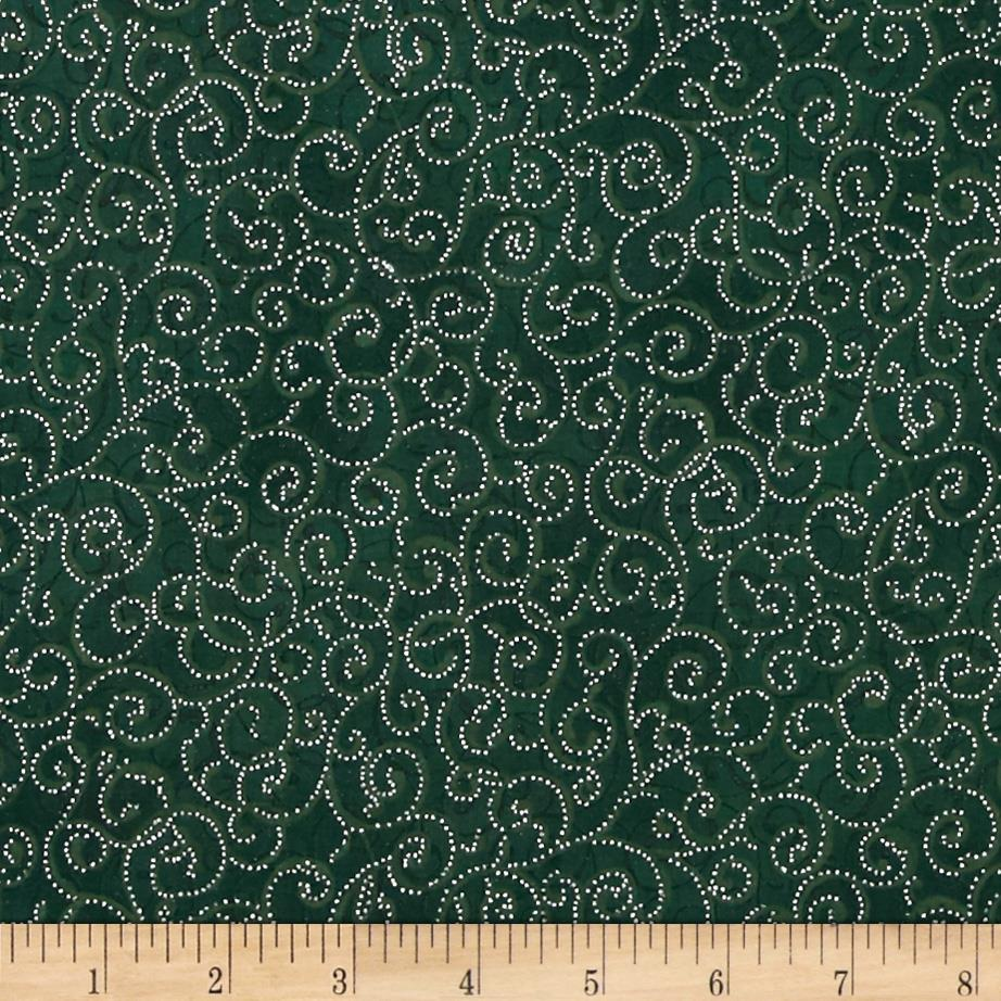 Berries and Blooms Metallic Scroll Forest/Silver