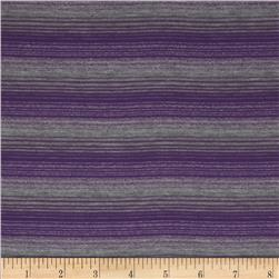 Jersey Knit Yarn Dyed Stripes Purple/Grey