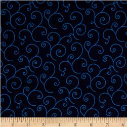 Maywood Studio Kimberbell Basics Scroll Navy Blue