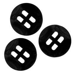 Fashion Button 3/4'' Gordes Black