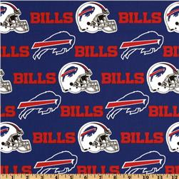 NFL Cotton Broadcloth Buffalo Bills Red/Royal Fabric