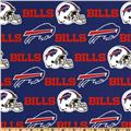 NFL Cotton Broadcloth Buffalo Bills Red/Royal