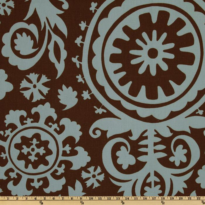 Premier Prints Suzani Village Brown/Blue