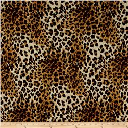 ITY Brushed Jersey Knit Cheetah Print