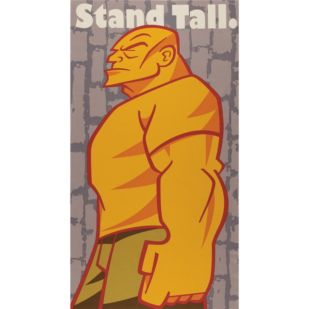 Rebel Stand Tall Panel Grey