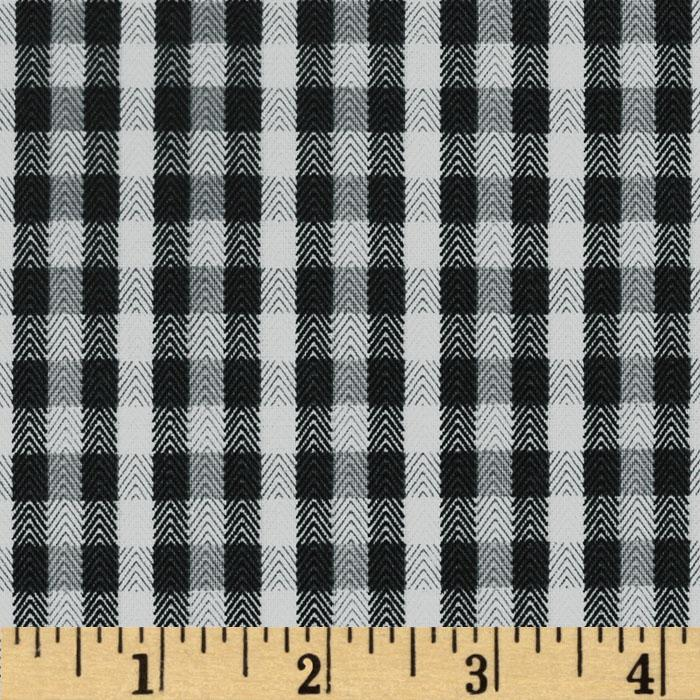 Herringbone Plaid Dark Grey