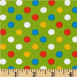 Kaufman Spot On Medium Dot Green