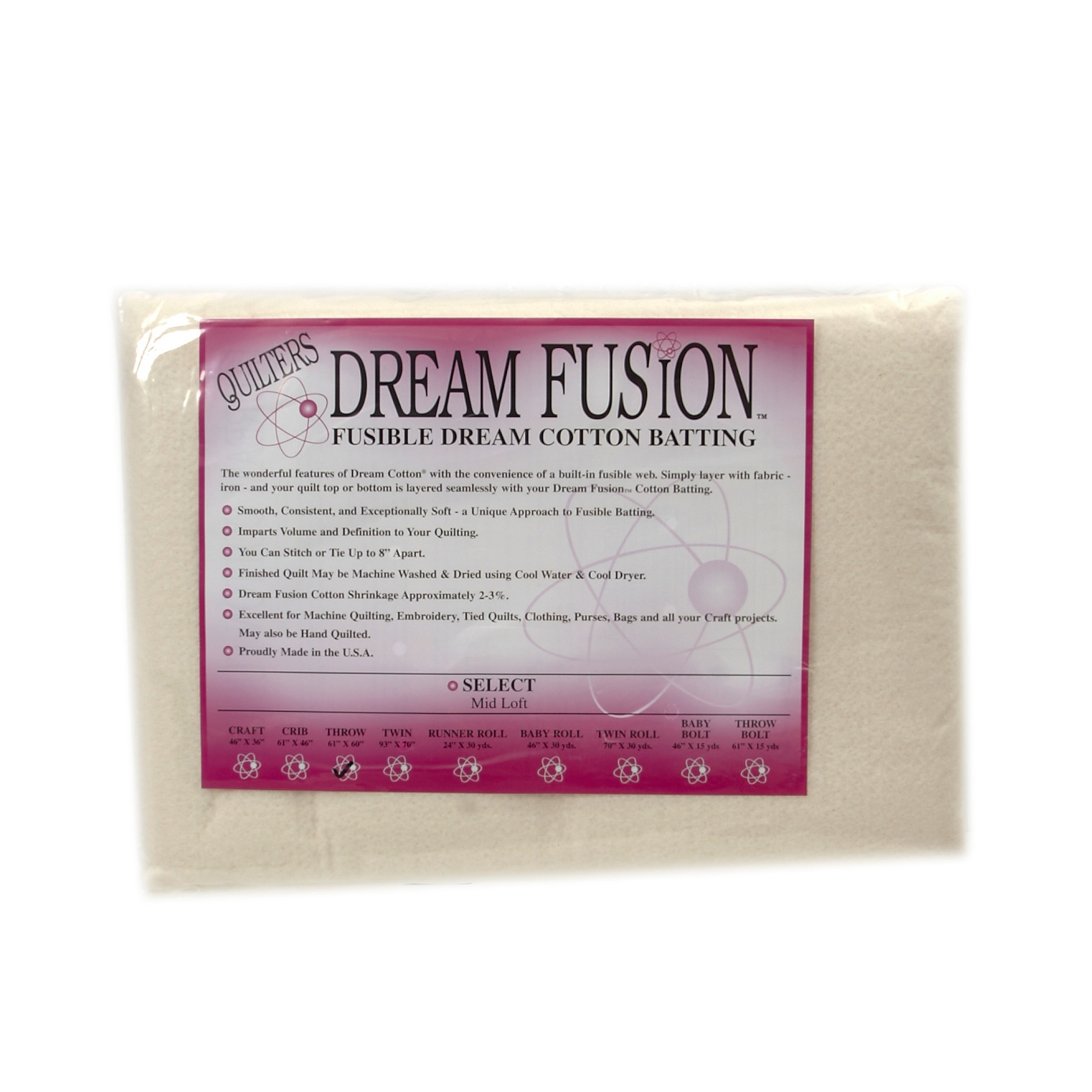 Quilter's Dream Fusion Cotton Select (60'' x 60'') Throw by Quilter's Dream in USA