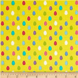 Michael Miller Easter in Gnomeville Egg Dot Yellow