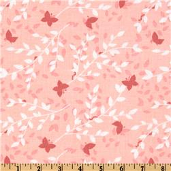 Michael Miller Bella Butterfly Sweet Leaves Pink Fabric