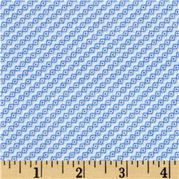 Bluebell Diagonal Stripe Light Blue Fabric