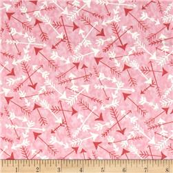 Moda Hugaboo Tossed Arrows Twirly Pink