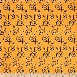 Sew Scary Swirly Stripe Orange