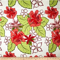 Bartow Indoor/Outdoor Lagoon Floral Peach/Red/Green