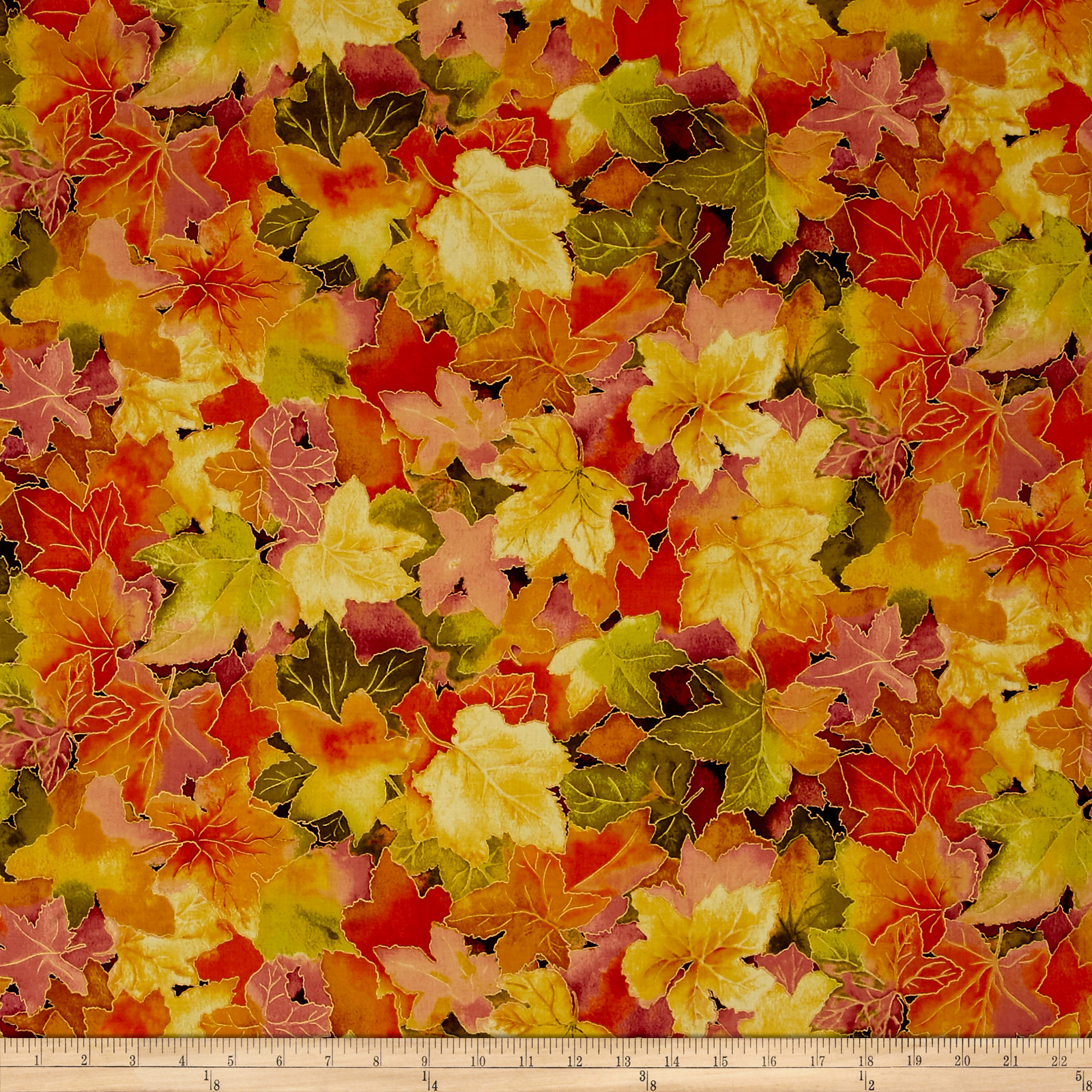 Autumn Air Metallic Forest Floor Mulberry Fabric 0513181