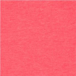 Basic Cotton Rib Knit Neon Pink