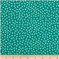 Peachskin Tiny Print Aqua/White