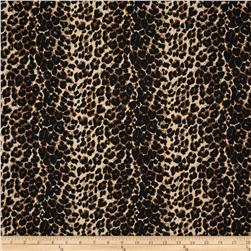 Stretch French Terry Knit Cheetah Brown/Black/Cream
