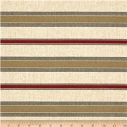 Bella Stripe Red/Brown