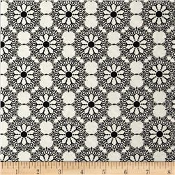 Black & White Expressions Stencil Medallion Ivory