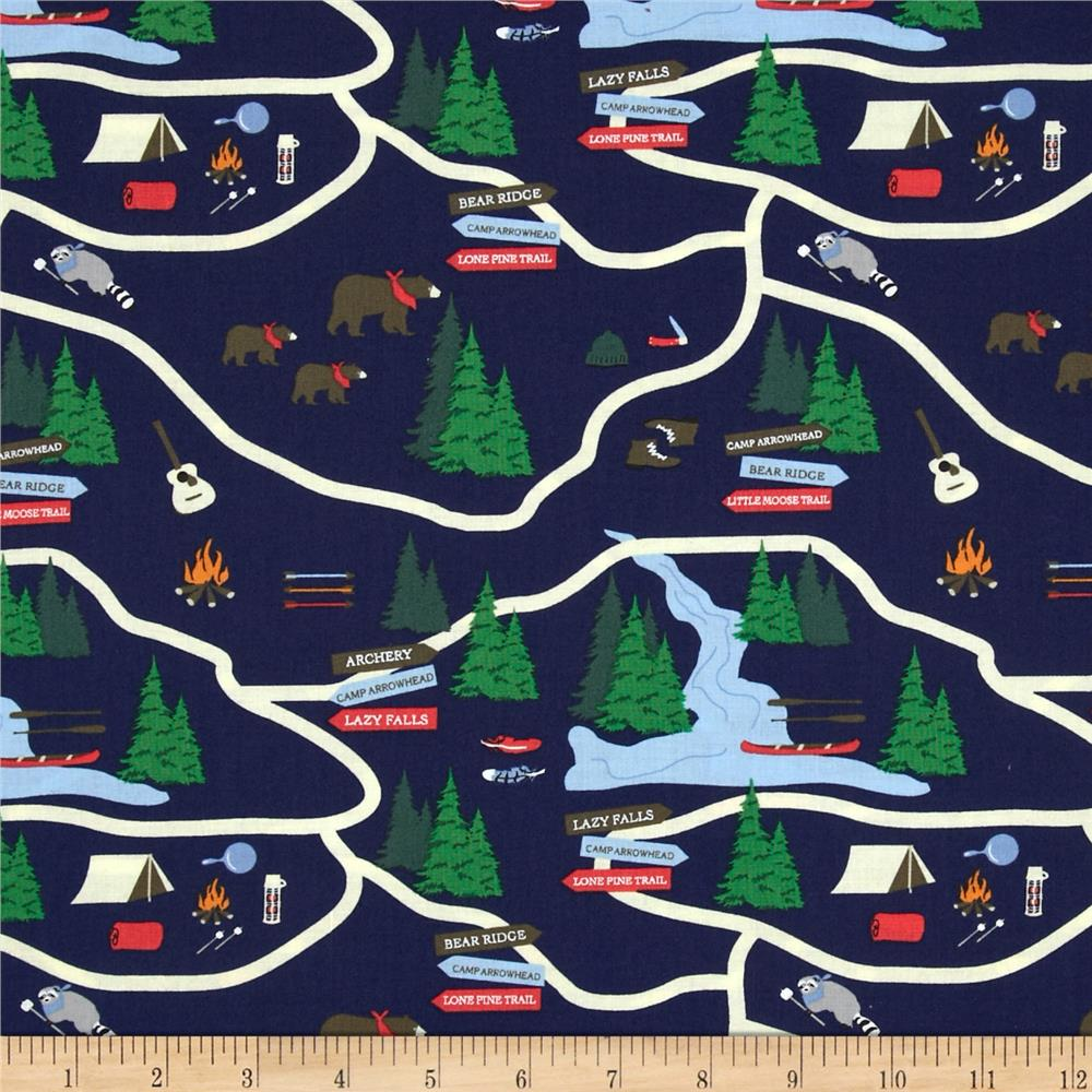 Take a Hike Map Navy