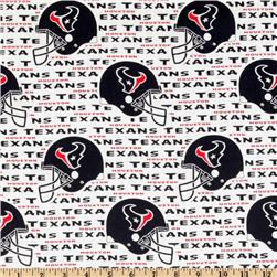 NFL Cotton Broadcloth Houston Texans White/Navy Fabric