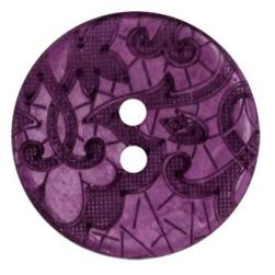 Genuine Coconut Button 1 1/4'' Scrolls Purple