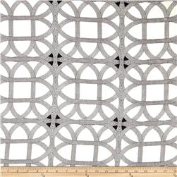 Waverly Williamsburg Lamerie Lattice Linen Black Orchid Fabric