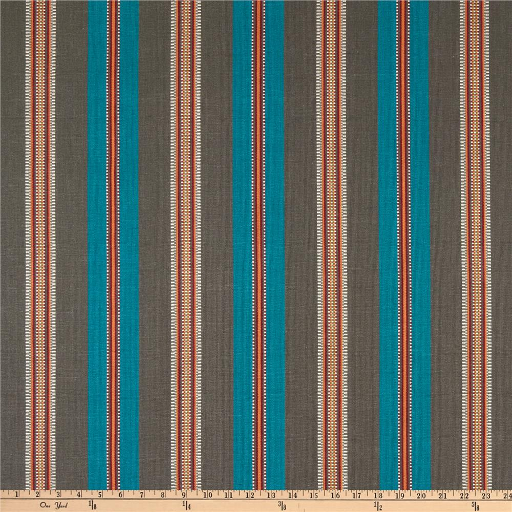 Laura & Kiran Southwest Stripes Laredo Stripe Turquoise