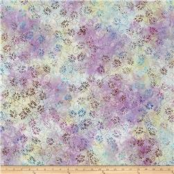Wilmington Batik Dancing Leaves Ivory/Little Blue