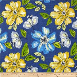 Sunbelt Indoor/Outdoor Summer Floral Blue Multi