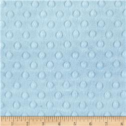 Michael Miller Minky Solid Dot Sky Blue