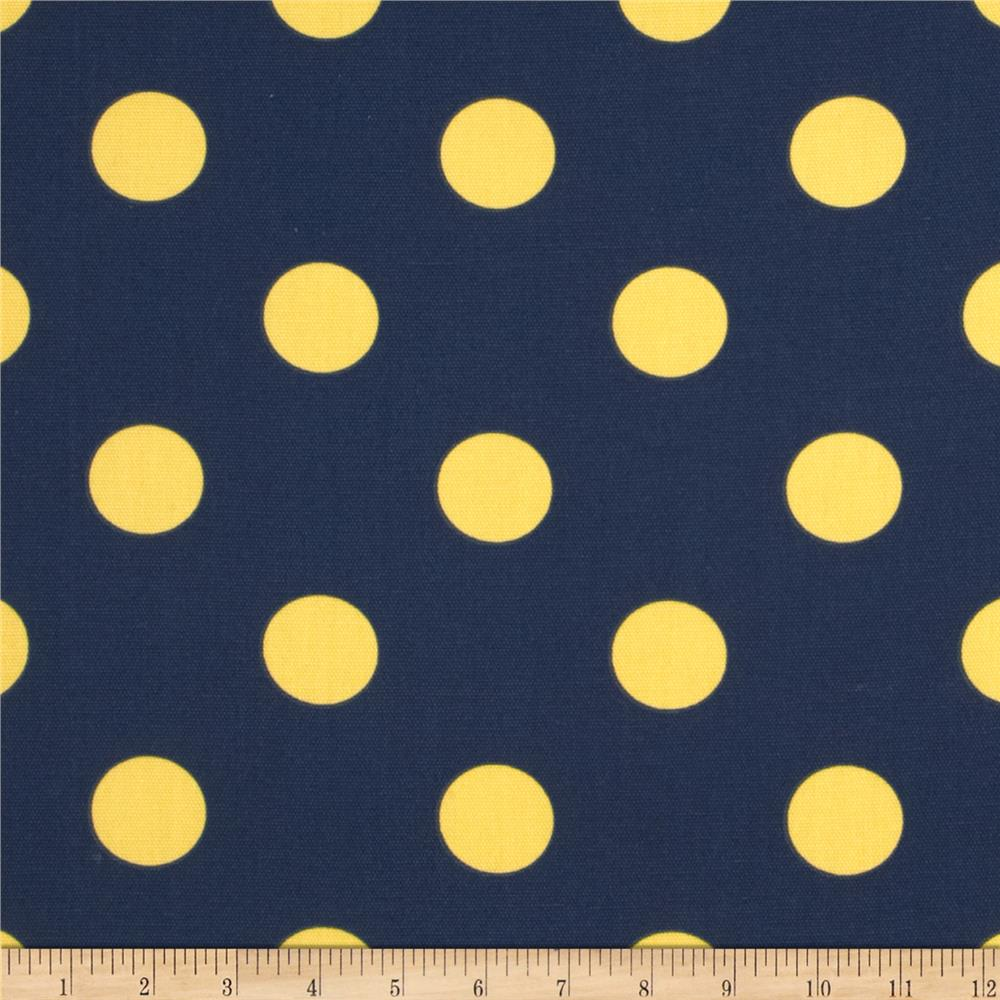Caymans Indoor/Outdoor Polka Dot Navy/Yellow