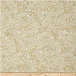 Zen Garden Metallic Floral Flags Cream/Gold