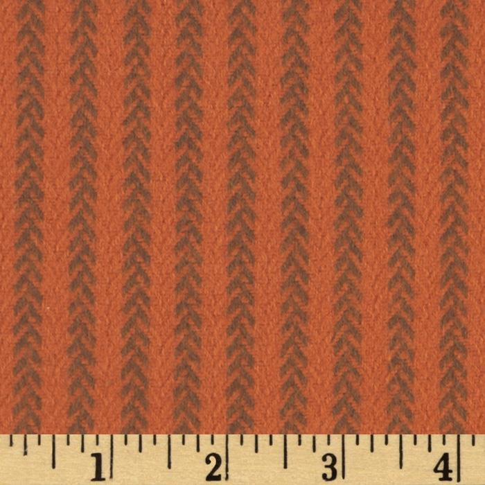 Primo Plaids Harvest Flannel Vine Stripe Orange