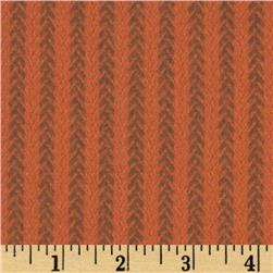 Primo Plaids Harvest Flannel Vine Stripe Orange Fabric