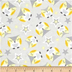 Wilmington Sweet Dreams Little One Owl Toss Gray