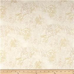 Shades of the Season Metallic Leaf Branches Ivory
