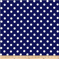 RCA Polka Dots Blackout Drapery Fabric Blue