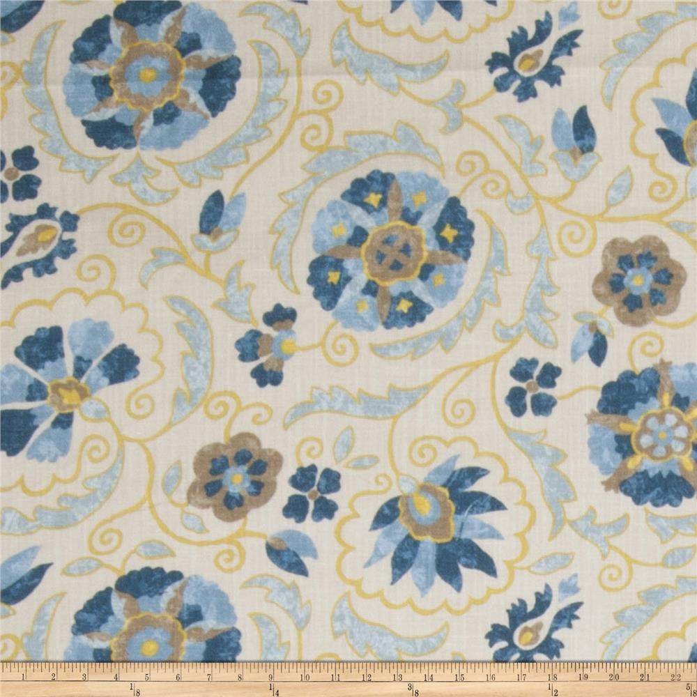 Jaclyn Smith Petite Suzani Blend Denim Fabric By The Yard