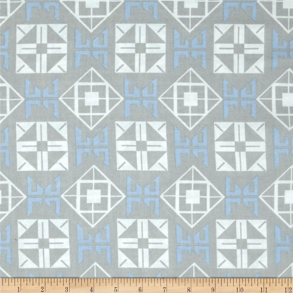 Concord House Cotton Tilted Square Blue