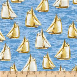 Harbor Point Small Sail Boats Blue