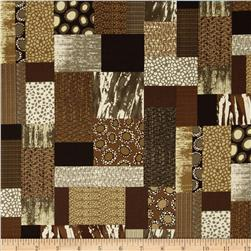 Heritage Abstract and Animal Print Patchwork Brown/Multi