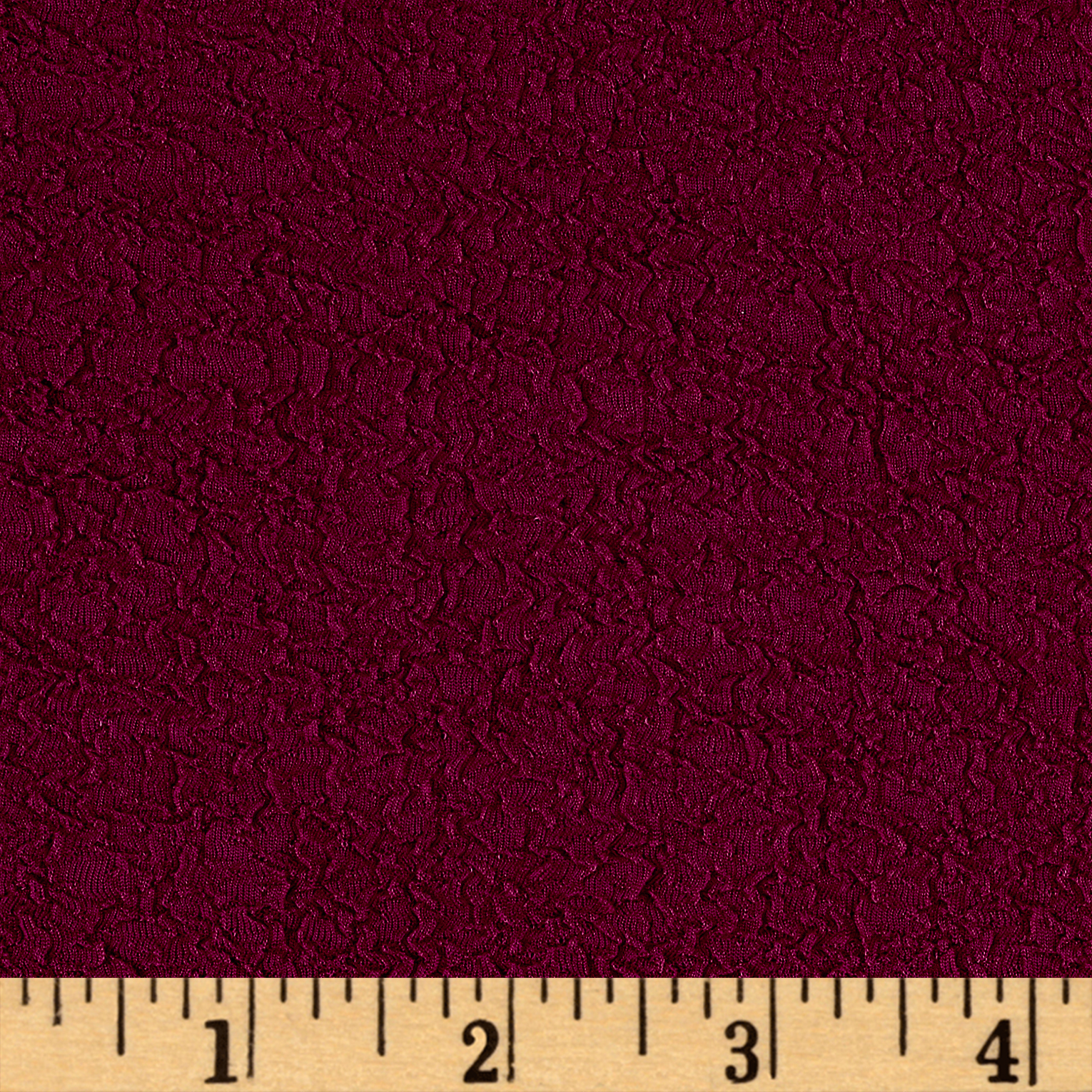 Crinkle Rib Double Knit Plum Fabric 0535739