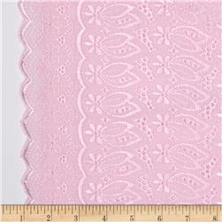 Fancy Eyelet Pink Fabric