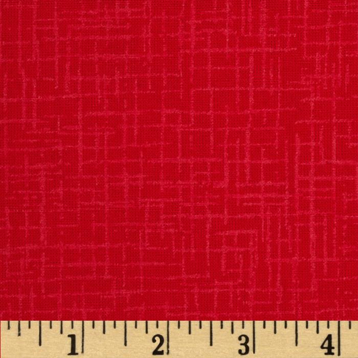110 In. Wide Quilt Back Betula Bright Red